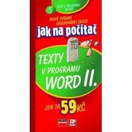 Jak na počítač Texty v programu Word II. | Jiří Hlavenka