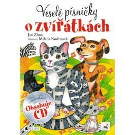 Veselé písničky o zvířátkách + CD   Milada Kudrnová-Papežová, Zíma Jan