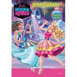 Barbie - Rock´n Royals - Omalovánky - Samolepky uvnitř! |  Mattel,  Mattel