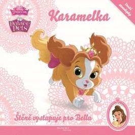 Princezna/Palace Pets - Karamelka - Štěně vystupuje pro Bellu - uvnitř samolepky | Walt Disney, Walt Disney