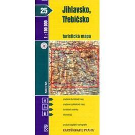 Jihlavsko,Třebíčsko25.turistickámapa-neuveden