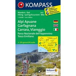 AlpiApuane,Garfagnana,Carrara,Viareggio2451/1:50TNKOM-neuveden