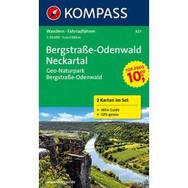 Bergstrasse,Odenwald,Neckartal827,2mapy/1:50TNKOM-neuveden
