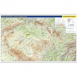 Českárepublika-nástěnnáfyzickámapa1:500tis./99x62,5cm-neuveden