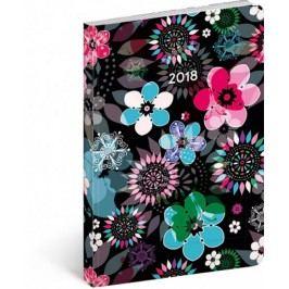 Diář2018-Květiny,týdenníultralehký,11x17cm,B6-neuveden